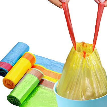 drawstring garbage bags on roll