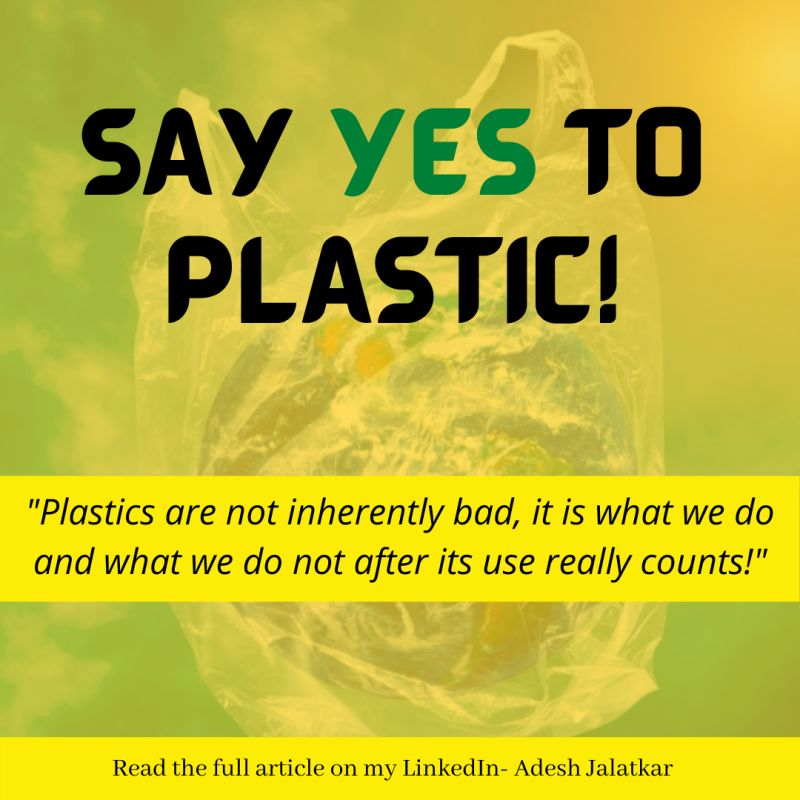 SAY YES TO PLASTIC