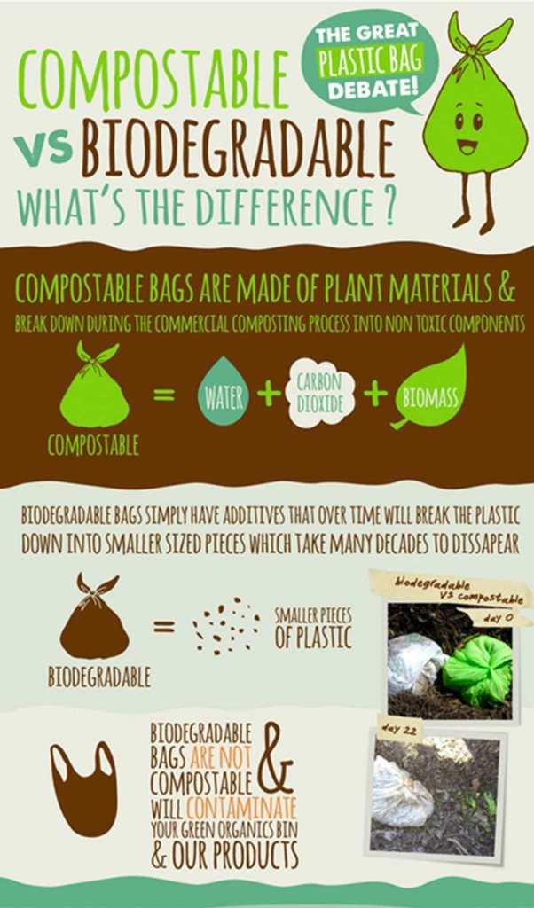 Compostable vs Biodegradable Plastic Bags