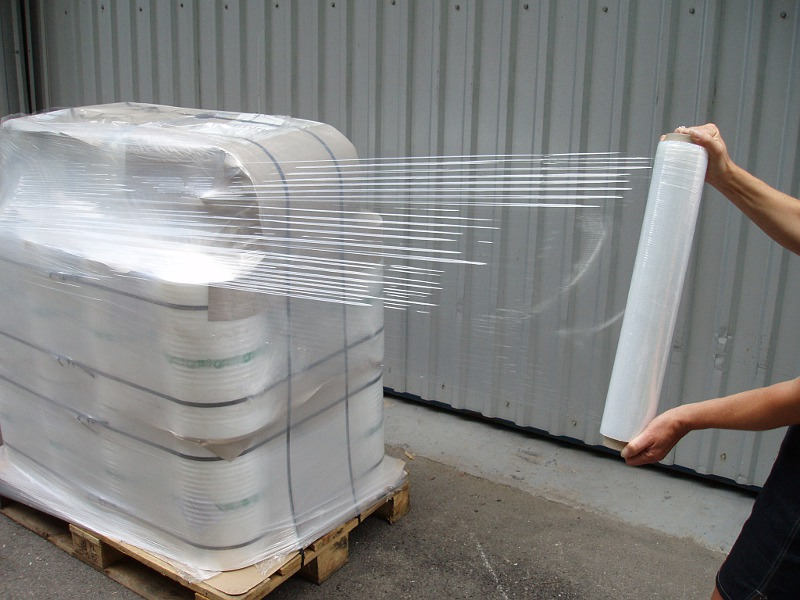 Stretch packaging roll testing