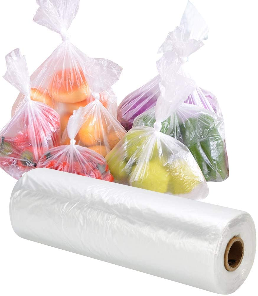 Flat clear roll bags